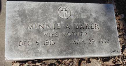 BAKER, MINNIE A. - Minnehaha County, South Dakota | MINNIE A. BAKER - South Dakota Gravestone Photos