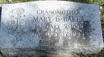 BAKER, MARY E. - Minnehaha County, South Dakota | MARY E. BAKER - South Dakota Gravestone Photos