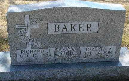 BAKER, ROBERTA K. - Minnehaha County, South Dakota | ROBERTA K. BAKER - South Dakota Gravestone Photos