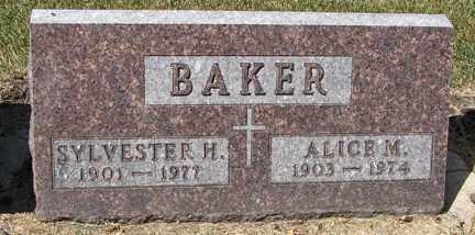 BAKER, SYLVESTER H. - Minnehaha County, South Dakota | SYLVESTER H. BAKER - South Dakota Gravestone Photos