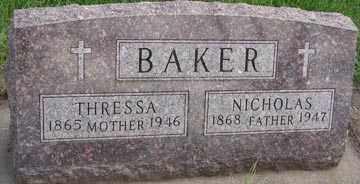 BAKER, NICHOLAS - Minnehaha County, South Dakota | NICHOLAS BAKER - South Dakota Gravestone Photos