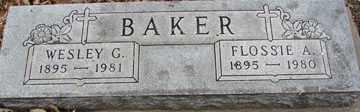 BAKER, FLOSSIE A. - Minnehaha County, South Dakota | FLOSSIE A. BAKER - South Dakota Gravestone Photos