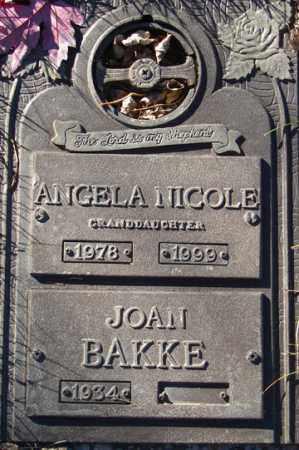 BAKKE, JOAN - Minnehaha County, South Dakota   JOAN BAKKE - South Dakota Gravestone Photos