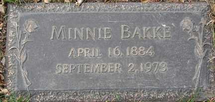 BAKKE, MINNIE - Minnehaha County, South Dakota | MINNIE BAKKE - South Dakota Gravestone Photos