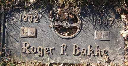 BAKKE, ROGER F. - Minnehaha County, South Dakota | ROGER F. BAKKE - South Dakota Gravestone Photos