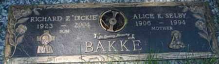 BAKKE, RICHARD E. - Minnehaha County, South Dakota   RICHARD E. BAKKE - South Dakota Gravestone Photos