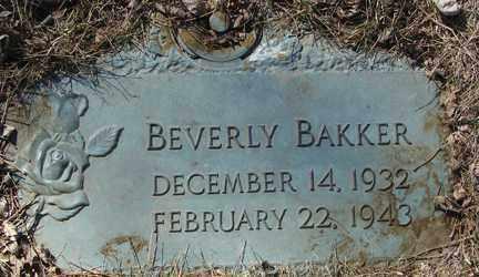 BAKKER, BEVERLY - Minnehaha County, South Dakota | BEVERLY BAKKER - South Dakota Gravestone Photos