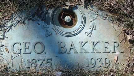 BAKKER, GEORGE - Minnehaha County, South Dakota   GEORGE BAKKER - South Dakota Gravestone Photos