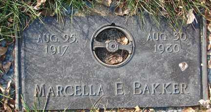 BAKKER, MARCELLA E. - Minnehaha County, South Dakota | MARCELLA E. BAKKER - South Dakota Gravestone Photos
