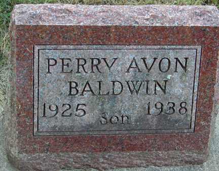 BALDWIN, PERRY AVON - Minnehaha County, South Dakota   PERRY AVON BALDWIN - South Dakota Gravestone Photos