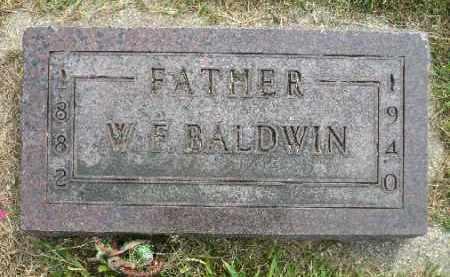 BALDWIN, WILLIAM F. - Minnehaha County, South Dakota | WILLIAM F. BALDWIN - South Dakota Gravestone Photos