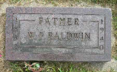 BALDWIN, WILLIAM F. - Minnehaha County, South Dakota | WILLIAM F. BALDWIN - South Dakota Gravestone Photos