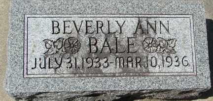BALE, BEVERLY ANN - Minnehaha County, South Dakota | BEVERLY ANN BALE - South Dakota Gravestone Photos