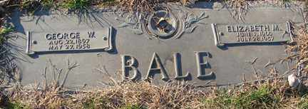 BALE, ELIZABETH M. - Minnehaha County, South Dakota | ELIZABETH M. BALE - South Dakota Gravestone Photos