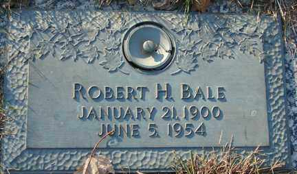 BALE, ROBERT H. - Minnehaha County, South Dakota | ROBERT H. BALE - South Dakota Gravestone Photos