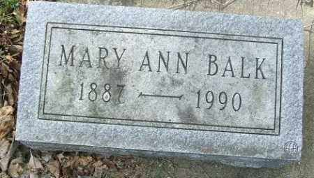 BALK, MARY ANN - Minnehaha County, South Dakota | MARY ANN BALK - South Dakota Gravestone Photos