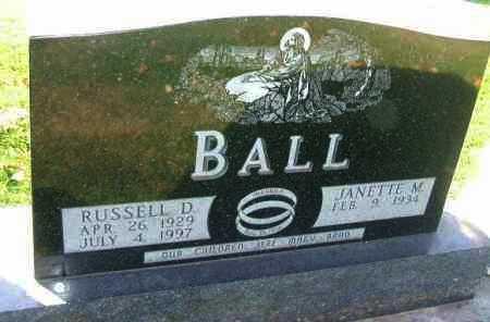 BALL, JANETTE M. - Minnehaha County, South Dakota | JANETTE M. BALL - South Dakota Gravestone Photos
