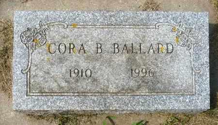 BALLARD, CORA B. - Minnehaha County, South Dakota | CORA B. BALLARD - South Dakota Gravestone Photos