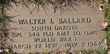 BALLARD, WALTER L. (WWI0 - Minnehaha County, South Dakota | WALTER L. (WWI0 BALLARD - South Dakota Gravestone Photos
