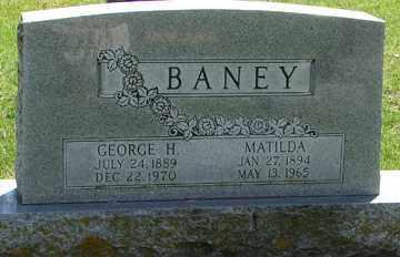BANEY, GEORGE  H. - Minnehaha County, South Dakota | GEORGE  H. BANEY - South Dakota Gravestone Photos