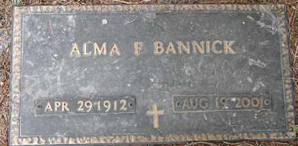 BANNICK, ALMA F. - Minnehaha County, South Dakota | ALMA F. BANNICK - South Dakota Gravestone Photos