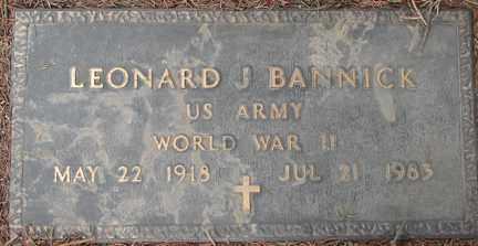 BANNICK, LEONARD J. - Minnehaha County, South Dakota | LEONARD J. BANNICK - South Dakota Gravestone Photos