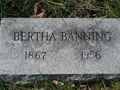 BANNING, BERTHA - Minnehaha County, South Dakota | BERTHA BANNING - South Dakota Gravestone Photos