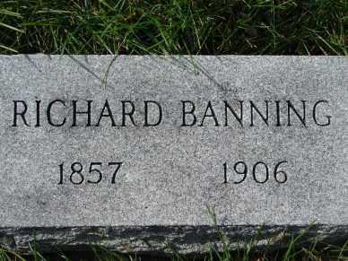 BANNING, RICHARD - Minnehaha County, South Dakota | RICHARD BANNING - South Dakota Gravestone Photos
