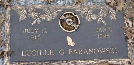 BARANOWSKI, LUCILLE G. - Minnehaha County, South Dakota | LUCILLE G. BARANOWSKI - South Dakota Gravestone Photos