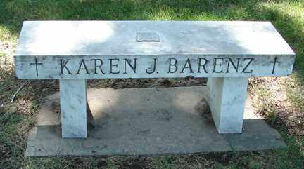BARENZ, KAREN J. - Minnehaha County, South Dakota | KAREN J. BARENZ - South Dakota Gravestone Photos