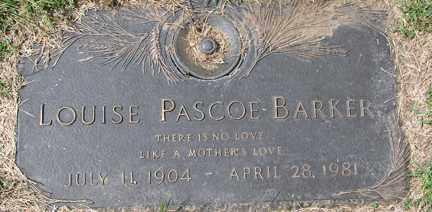 BARKER, LOUISE - Minnehaha County, South Dakota | LOUISE BARKER - South Dakota Gravestone Photos