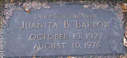 BARLOW, JUANITA B. - Minnehaha County, South Dakota   JUANITA B. BARLOW - South Dakota Gravestone Photos