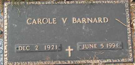 BARNARD, CAROLE V. - Minnehaha County, South Dakota | CAROLE V. BARNARD - South Dakota Gravestone Photos