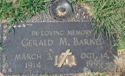 BARNES, GERALD M. - Minnehaha County, South Dakota | GERALD M. BARNES - South Dakota Gravestone Photos