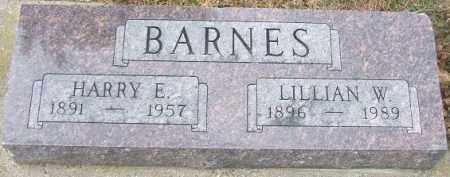 BARNES, LILLIAN W. - Minnehaha County, South Dakota   LILLIAN W. BARNES - South Dakota Gravestone Photos