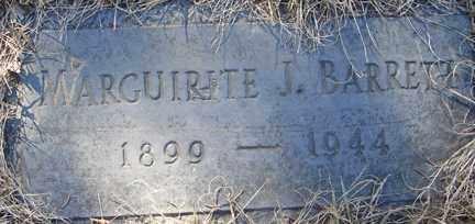 BARRETT, MARGUIRITE J. - Minnehaha County, South Dakota   MARGUIRITE J. BARRETT - South Dakota Gravestone Photos