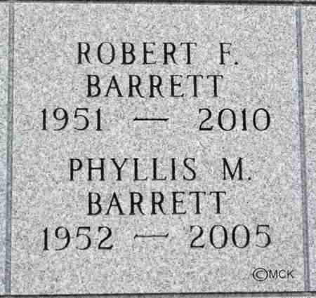 BARRETT, PHYLLIS M. - Minnehaha County, South Dakota | PHYLLIS M. BARRETT - South Dakota Gravestone Photos