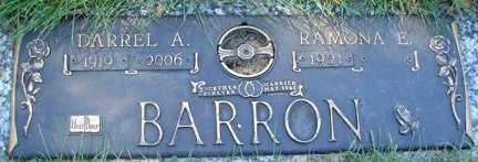 BARRON, DARREL A. - Minnehaha County, South Dakota | DARREL A. BARRON - South Dakota Gravestone Photos