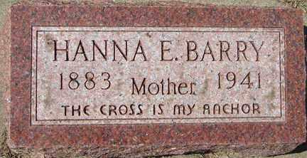 BARRY, HANNA E. - Minnehaha County, South Dakota | HANNA E. BARRY - South Dakota Gravestone Photos