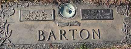 BARTON, VIOLET LUCILLE - Minnehaha County, South Dakota | VIOLET LUCILLE BARTON - South Dakota Gravestone Photos