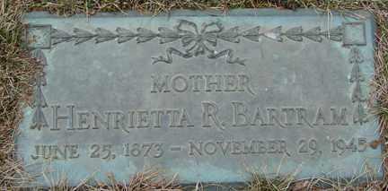 BARTRAM, HENRIETTA R. - Minnehaha County, South Dakota   HENRIETTA R. BARTRAM - South Dakota Gravestone Photos