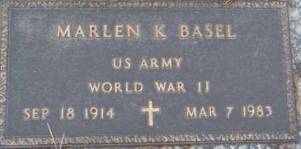 BASEL, MARLEN K. (WWII) - Minnehaha County, South Dakota | MARLEN K. (WWII) BASEL - South Dakota Gravestone Photos