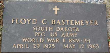 BASTEMEYER, FLOYD C. - Minnehaha County, South Dakota   FLOYD C. BASTEMEYER - South Dakota Gravestone Photos