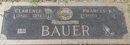 BAUER, FRANCES E. - Minnehaha County, South Dakota | FRANCES E. BAUER - South Dakota Gravestone Photos