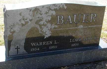 BAUER, WARREN L. - Minnehaha County, South Dakota | WARREN L. BAUER - South Dakota Gravestone Photos