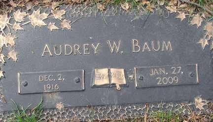 BAUM, AUDREY W. - Minnehaha County, South Dakota | AUDREY W. BAUM - South Dakota Gravestone Photos