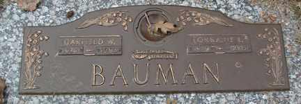 BAUMAN, GARFIELD W. - Minnehaha County, South Dakota | GARFIELD W. BAUMAN - South Dakota Gravestone Photos