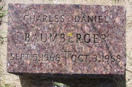 BAUMBERGER, CHARLES DANIEL - Minnehaha County, South Dakota | CHARLES DANIEL BAUMBERGER - South Dakota Gravestone Photos