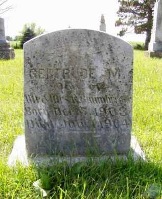 BAUMBERGER, GERTRUDE M. - Minnehaha County, South Dakota | GERTRUDE M. BAUMBERGER - South Dakota Gravestone Photos
