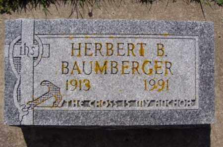 BAUMBERGER, HERBERT B. - Minnehaha County, South Dakota | HERBERT B. BAUMBERGER - South Dakota Gravestone Photos
